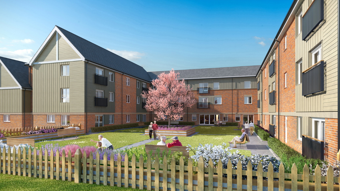 Artist's impression of completed Care Home